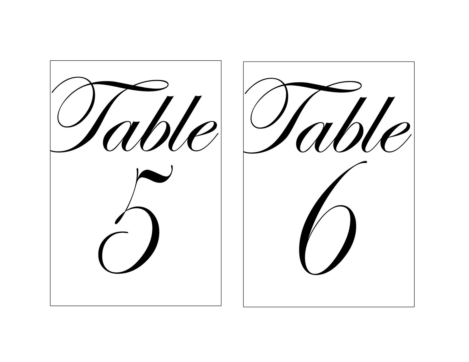 Candid image with regard to free table number printable