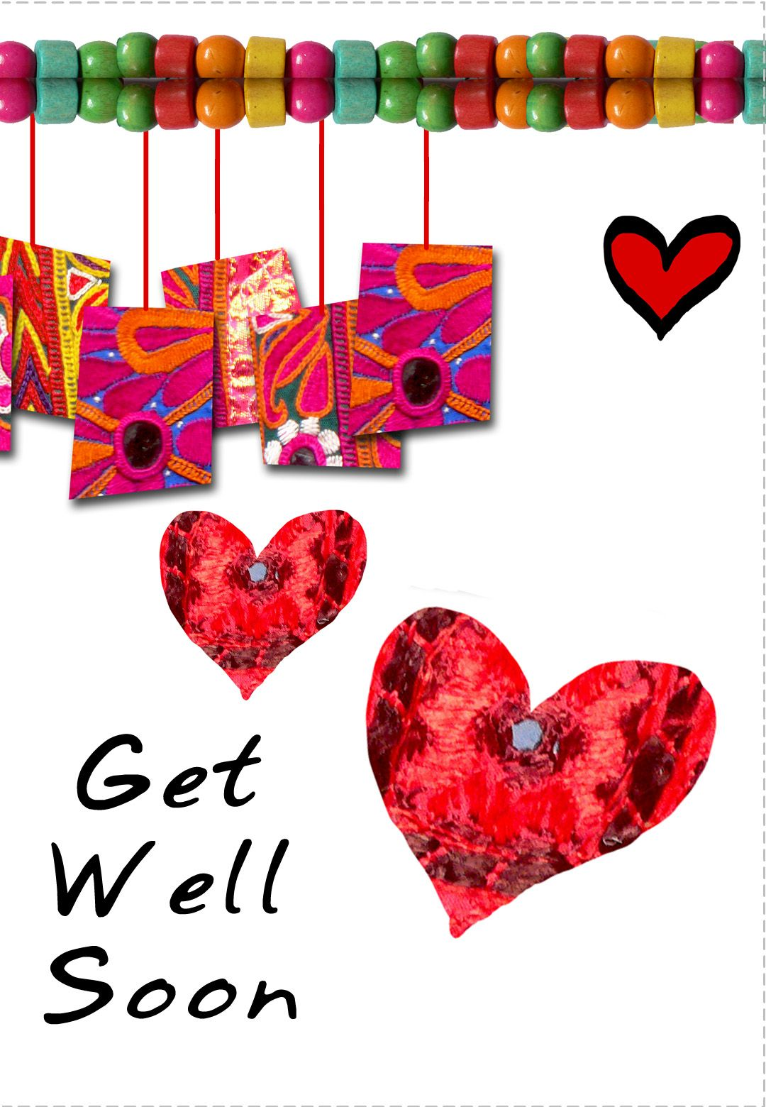 This is an image of Fan Get Well Card Printable
