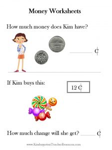 How Much Money Worksheets