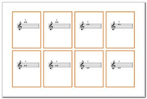 Piano Note Flash Cards