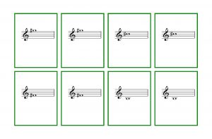Piano Notes Flash Cards Printable