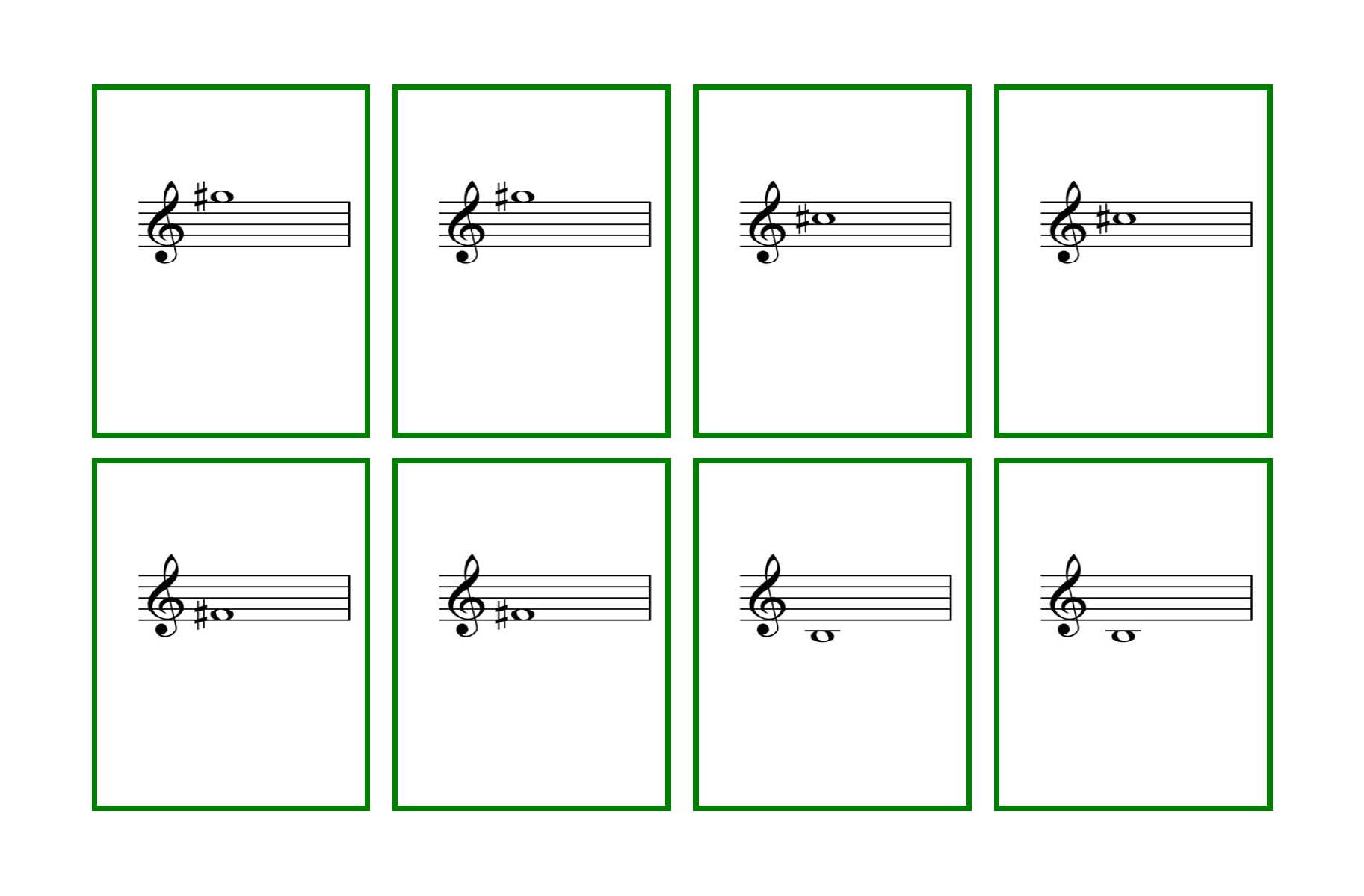 photo regarding Musical Note Flashcards Printable named 28 Piano Flash Playing cards toward Print