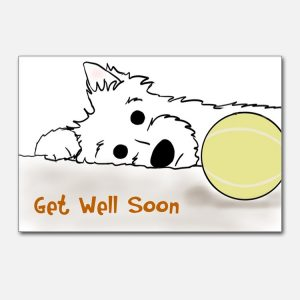 Printable Get Well Cards for Dogs