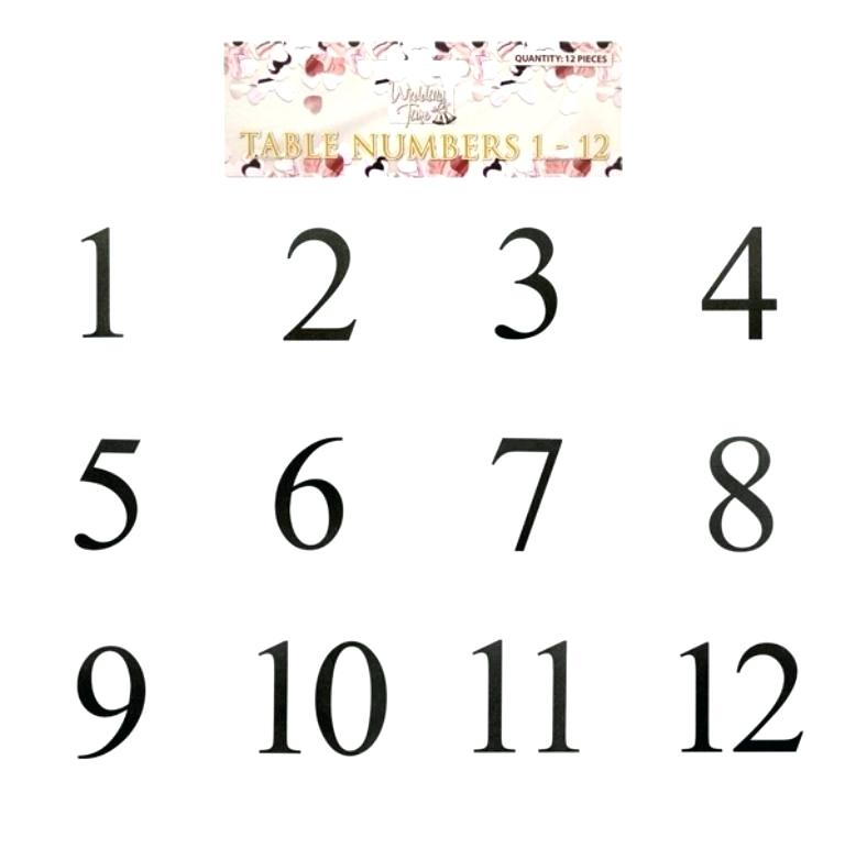 graphic about Free Printable Number Cards named 28 Tasteful Printable Desk Quantities