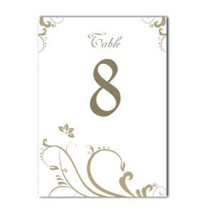Printable Table Number Templates