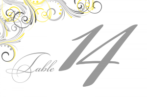 Printable Table Numbers Template