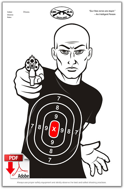 Zany image with regard to printable shooting targets 11x17