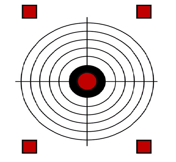 image about Printable Bullseye Target known as 60 Pleasurable Printable Objectives