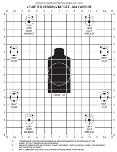 Printable Zeroing Targets