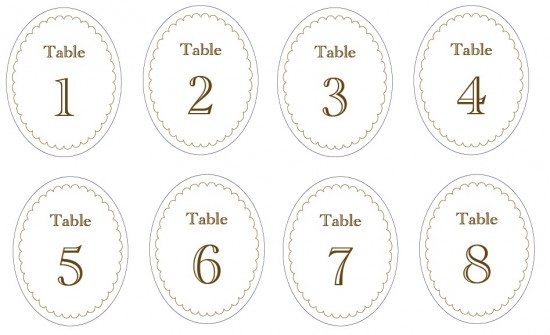 This is an image of Free Printable Table Numbers 1 30 for summer table