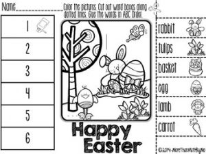 Abc Order Easter Worksheets