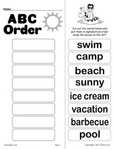 Alphabetical Order Worksheets 4th Grade