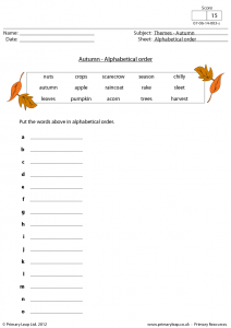Alphabetical Order Worksheets Advanced For Adults