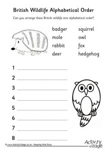 Alphabetical Order Worksheets Ks1
