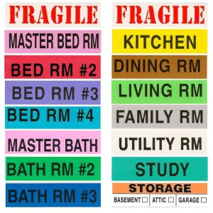 Color Coded Moving Labels