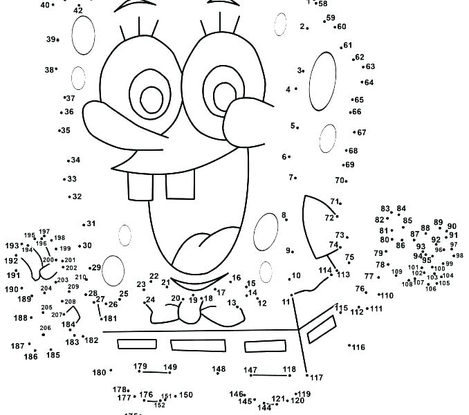 Declarative image intended for hard dot to dot printable