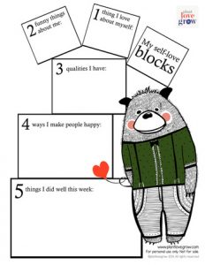 Increasing Self Esteem Activity Worksheets