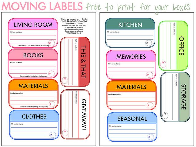 image about Printable Moving Labels known as 20+ Instructive Going Labels for All Reasons