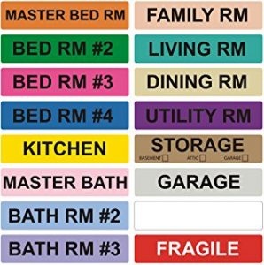 Moving House Box Labels