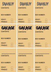Moving Packing Labels