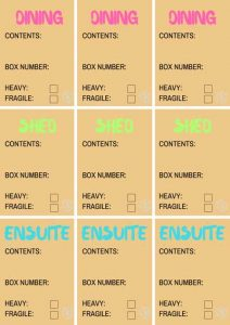 Printable Moving Labels