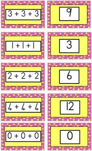 Repeated Addition Flash Cards
