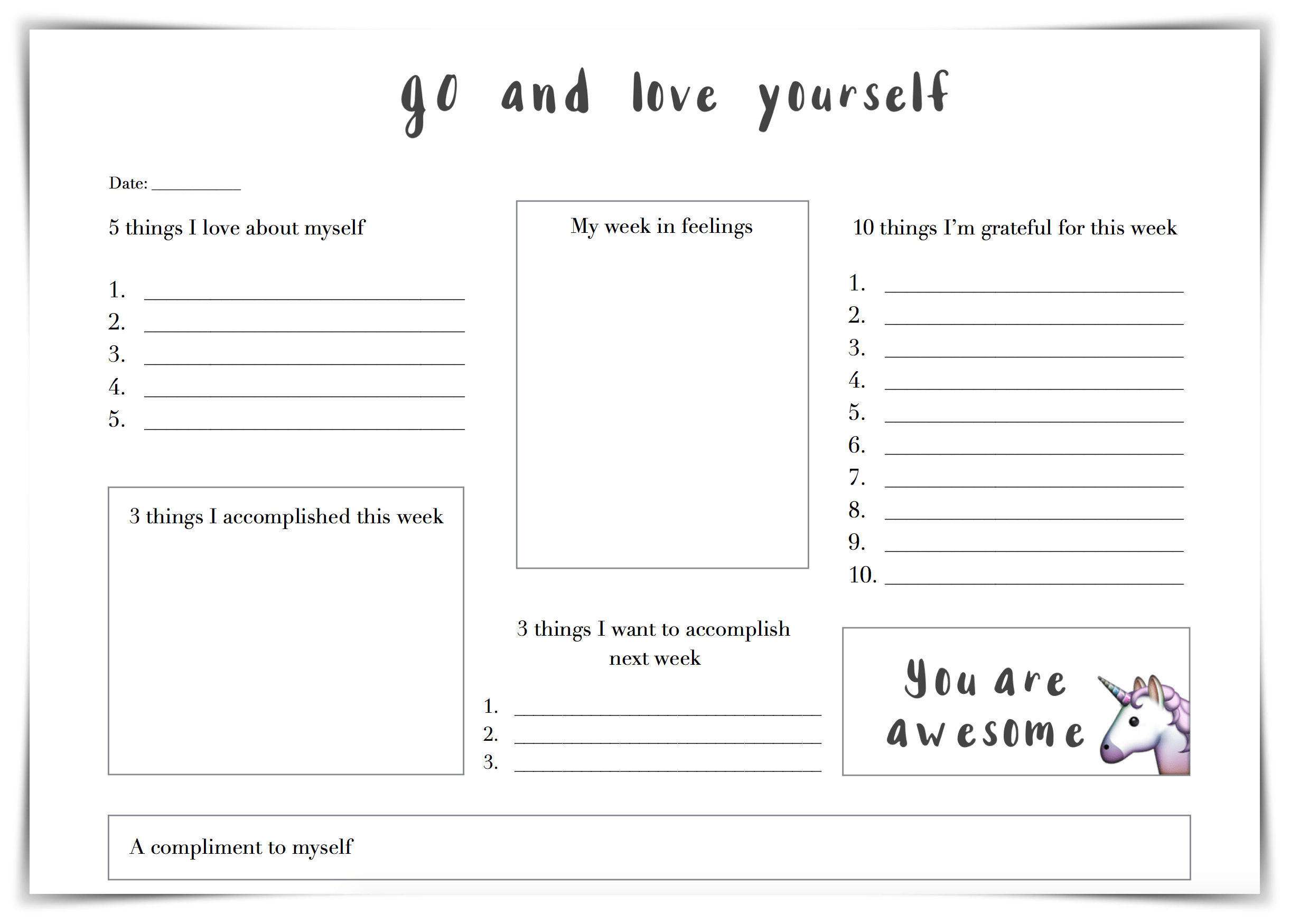 30 Self Esteem Worksheets to Print | KittyBabyLove.com
