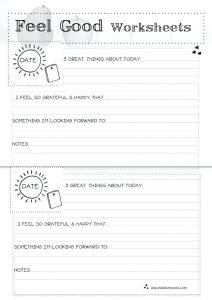 Self Esteem Worksheets for Elementary Students