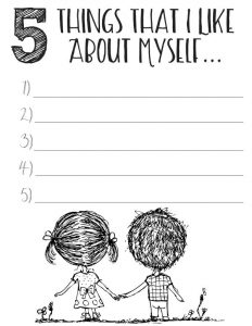 Self Esteem and Self Worth Worksheets