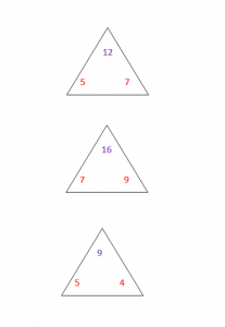 Triangle Addition Flash Cards