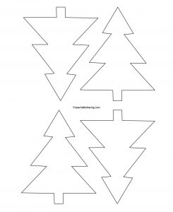3D Christmas Tree Template Printable