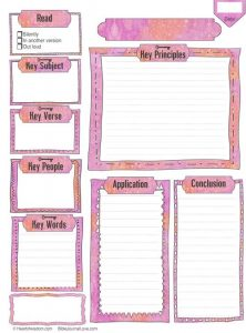 Bible Study Worksheets for Adults Printable
