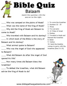 Bible Worksheets for Youth
