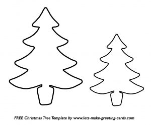 Christmas Card Tree Template