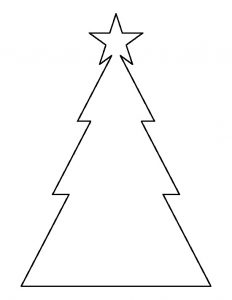 Christmas Tree Cookie Template Printable