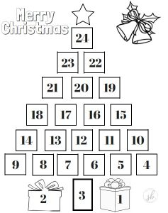 Christmas Tree Countdown Printable