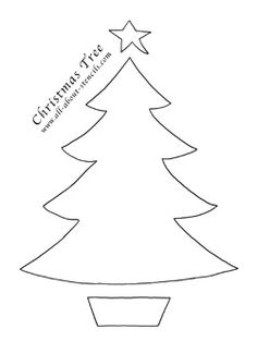 Impertinent image for christmas tree cutouts printable
