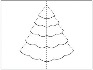 Christmas Tree Pop Up Template