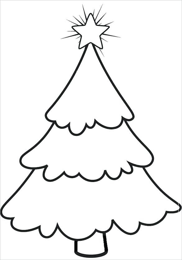 50 Christmas Tree Printable Templates | KittyBabyLove.com