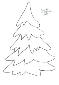 Christmas Tree Template Free