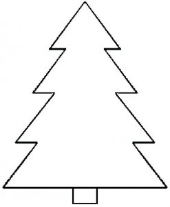 Christmas Tree Template Printable