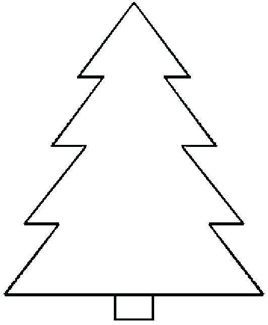 photograph relating to Tree Template Printable titled 50 Xmas Tree Printable Templates