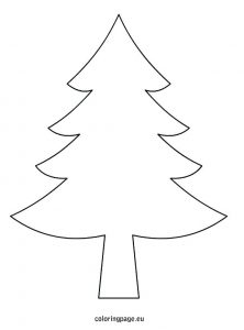 Christmas Tree Templates Free Printable