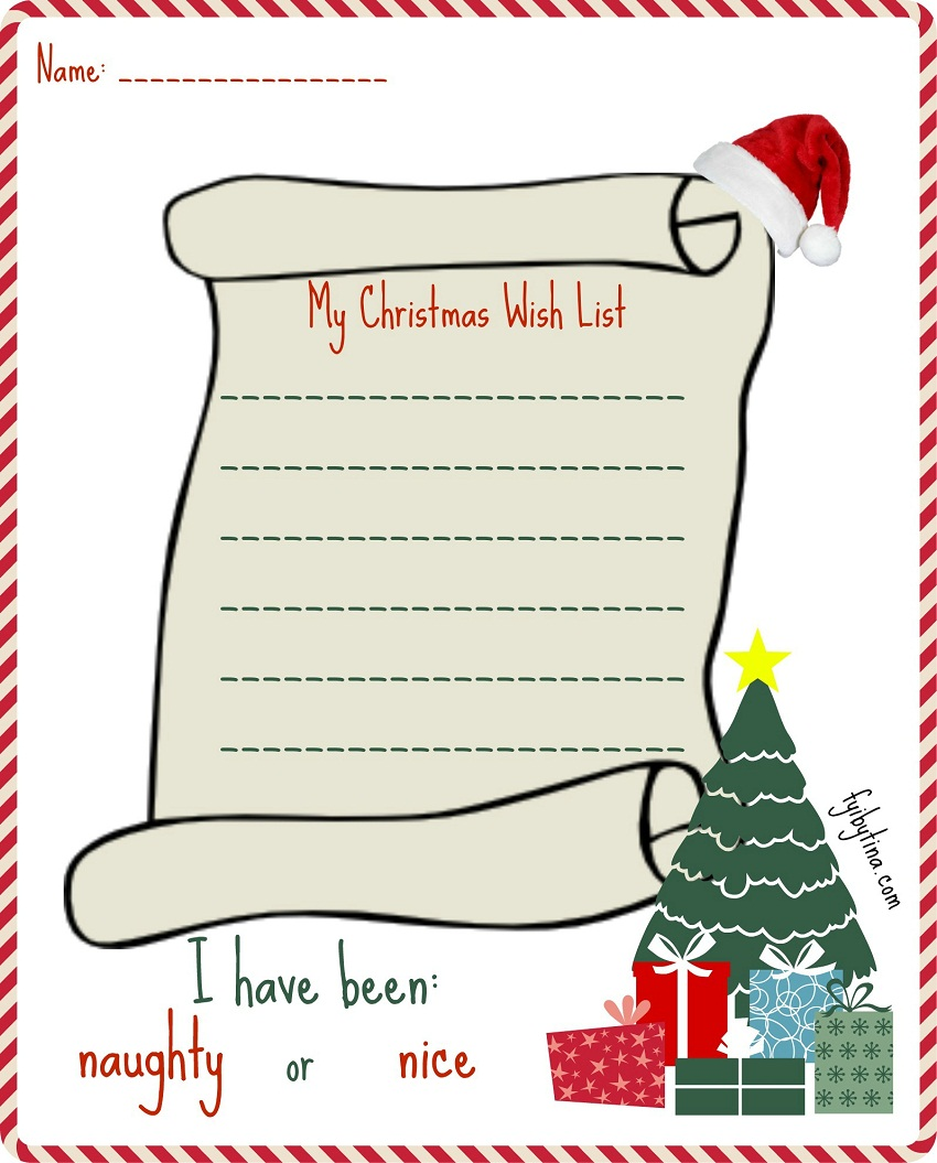 photograph relating to Free Printable Christmas Wish List titled 48 Xmas Motivation Lists