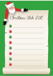Christmas Wishes List