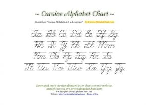 Cursive Uppercase and Lowercase Letters Worksheet