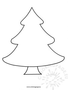 Felt Christmas Tree Template