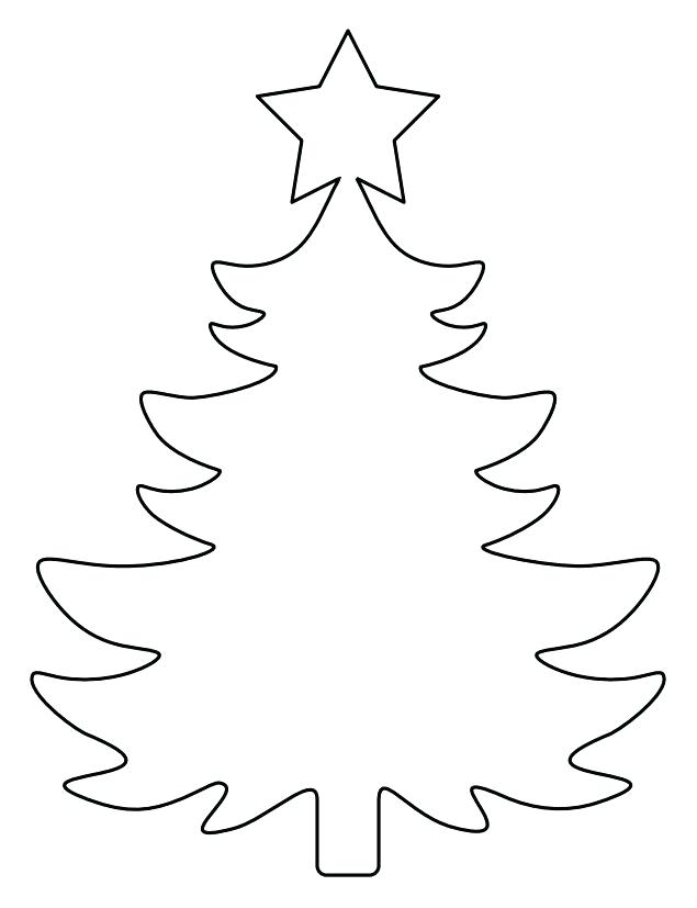 This is a photo of Rare Free Printable Christmas Tree Template