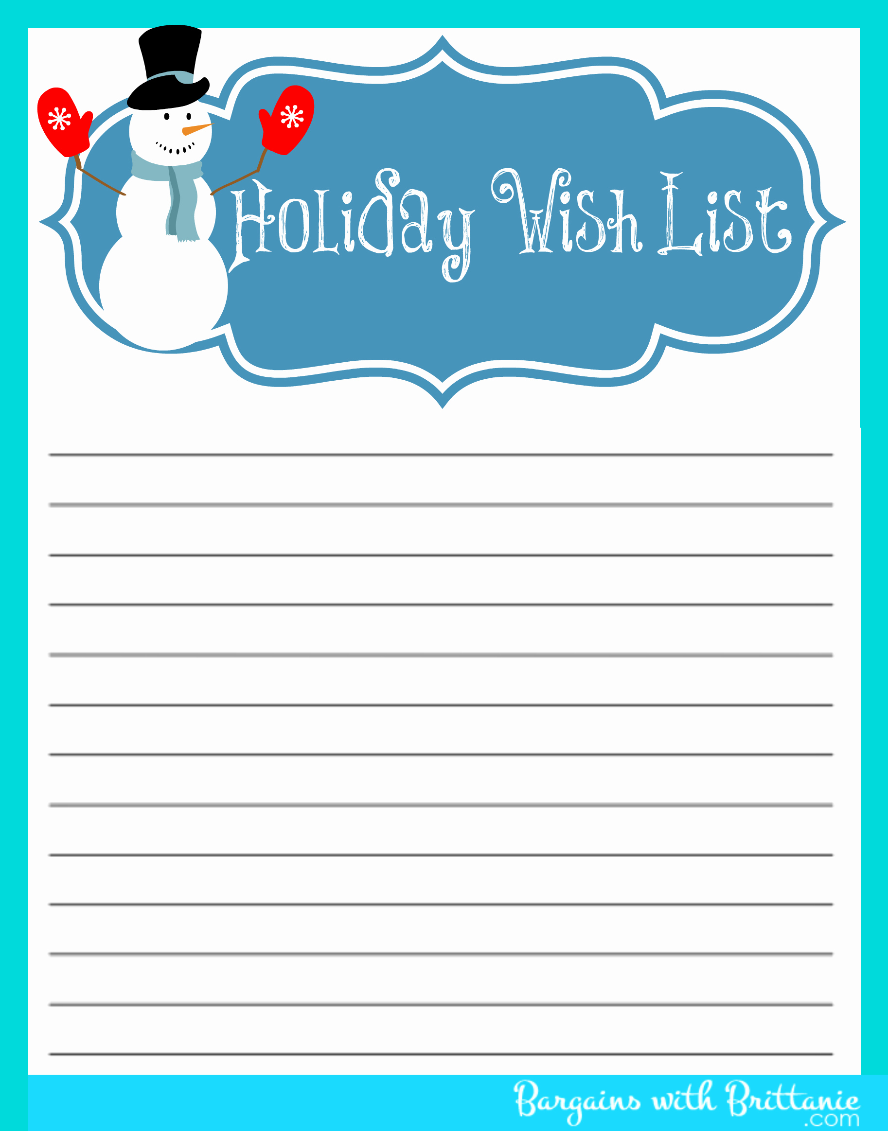 48 Christmas Wish Lists | Kitty Baby Love