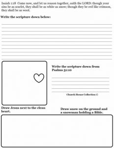 Free Printable Bible Worksheets for Youth